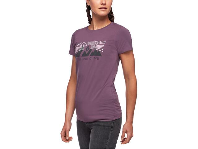 Black Diamond Rise And Climb Camiseta Manga Corta Mujer, violeta